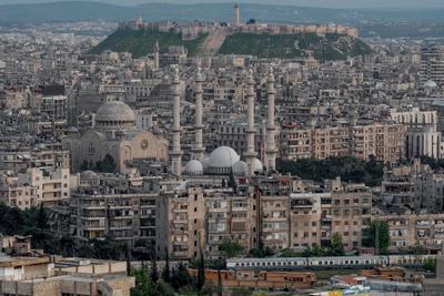 Вечер в Алеппо сирия пейзаж город