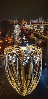 Москва Новогодняя Москва Новый год зима город ночь