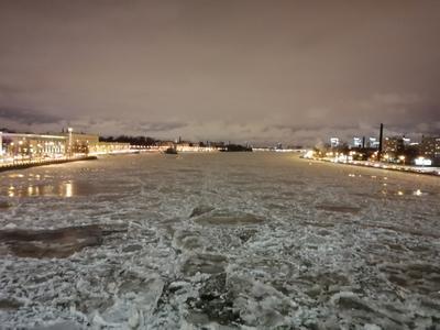 НЕВА ВЕЧЕРОМ ДЕКАБРЬ 2020 Санкт-Петербург нева вечер декабрь зима снег лед вод