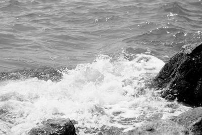 sea море волны черно-белый камни пена sea waves black and white stone foam