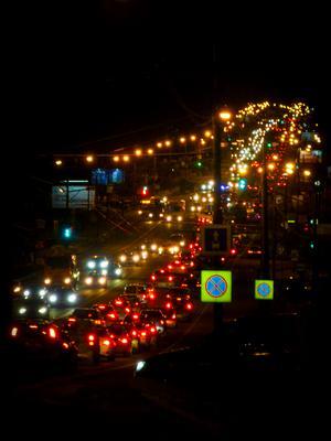 Московских пробок негасимый свет город улица пробки