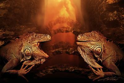 Dragons Laugh Digital Photo Art Reptiles Eltons Fantasies