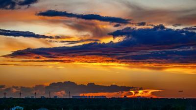 *** закат облака