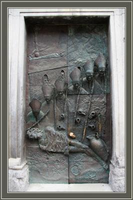 Дверь Собора Святого Николая Словения Slovenija Любляна Ljubljana