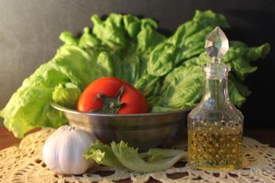 ***Овощное трио. салат масло чеснок