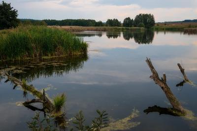 Озеро... Осень сентябрь озеро