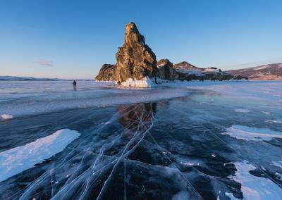 Выбирая ракурс . Байкал Малое море Ольтрек лед Март