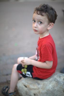 Мальчик с виноградом