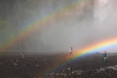 Playground дети радуга водопад