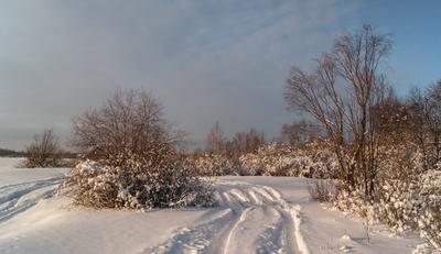 *** зима дорога снег небо