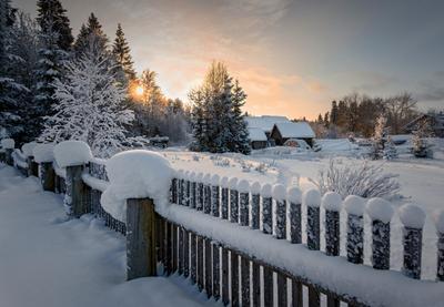 В зимней неге тоска и покой... Вологодчина зима деревня