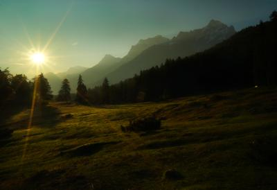 утро утро горы солнце лес