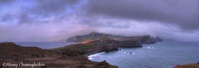 Раннее утро на Мадейре Восход рассвет непогода пасмурно Мадейра