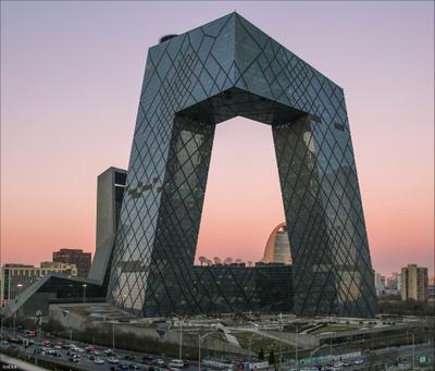 Штаб квартира CCTV в Пекине Китай Пекин