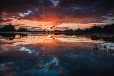 Момент Природа пейзаж озеро закат