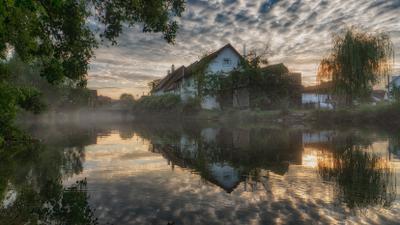 Утро на Бренце утро город река рассвет