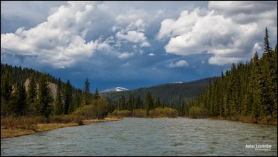 Грозе навстречу! река лето гроза