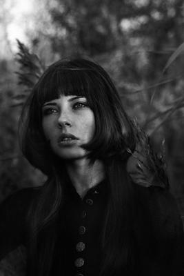Scarlet Black портрет чб black white