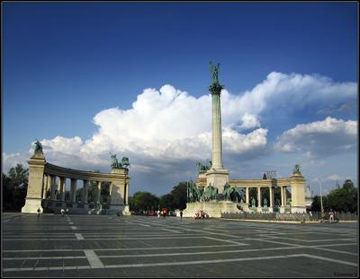 Hosok tere Hosok tere Budapest Hungary Magyarorszag Венгрия Будапешт Площадь Героев
