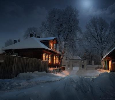 Зимний вечер кострома