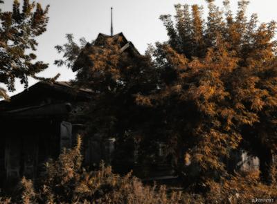 Эстетега Resident Evil Village В Омске зодчество история деревянное омск старый дом ведьма вечная осень resident evil