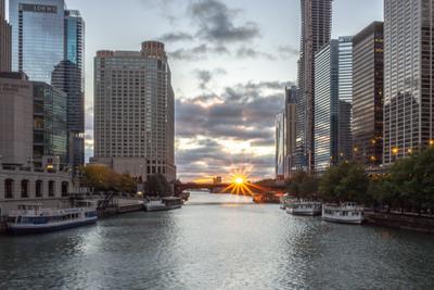 Лучезарная звезда Chicago river Fedotkin