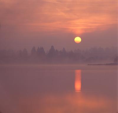 Рассвет на Большом Удрае. озеро рассвет Большой Удрай