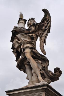 статуя на мосту Ангела. Рим. статуя мост Рим