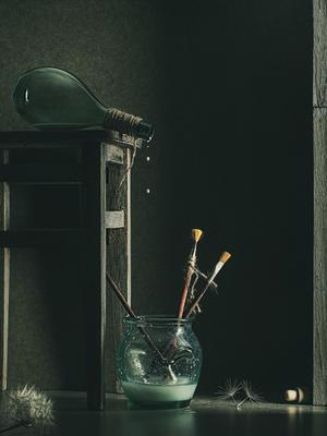 Зарисовки из кладовки 5 Натюрморт низкий ключ стекло