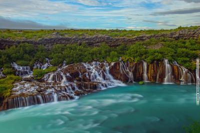 ~~~ Hraunfossar II ~~~ Исландияת водопадת Hraunfossarת Icelandת vakomin