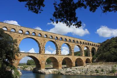 Остатки римского величия Акведук римляне Прованс Узес Авиньон
