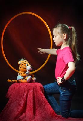 Алле - Ап! Алле Ап Юная дрессировщица детский портрет Василий Прудников фото фотограф