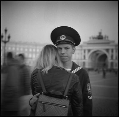 Вечер на Дворцовой площади, СПб, 2017
