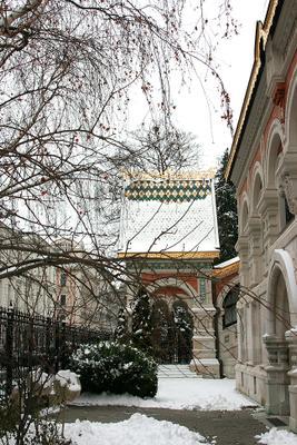 В Вене зима... Вена, храм, зима.