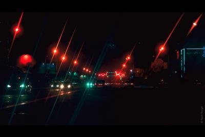 Ночной вперед Актау ночь город супер огни вечер экстаз клуб красный бирюза машины улица