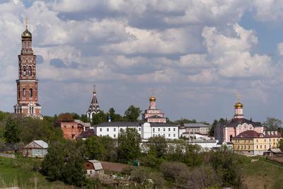 Иоанно-Богословский монастырь Монастырь, Ока, Пощупово, Рязань, Пейзаж, Святой источник