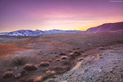 Марсианский рассвет Горный_Алтай горы пейзаж природа beautiful Алтай landschaften Travel
