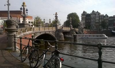Лето. Амстел. Синий мост. Амстердам Амстел Синий мост Amsterdam Amstel Blauwbrug