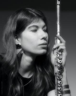 *** портрет девушка флейта музыкант андрейларионов