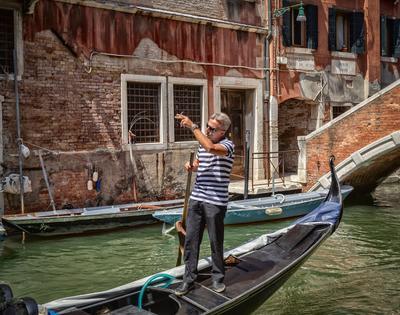 Венецианские гондольеры #1 италия венеция гондольеры