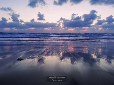 ~~~ Сиреневый закат ~~~ море Израиль закат sea Israel sunset vakomin