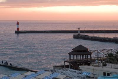 закат над морем Сочи закат