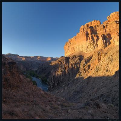Чарынский каньон на закате каньон Чарын закат река