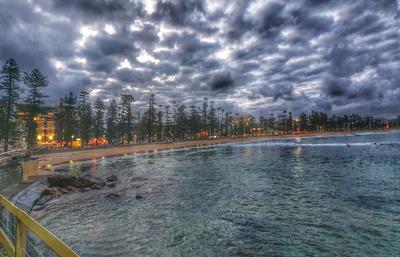 Вечерний пляж... вечер пляж Сидней