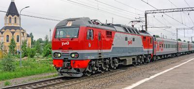ЭП2К-271 СПБ Апраксин поезд электровоз ЭП2К-271