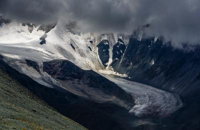 Ледник Тикелю Горный Алтай Тикелю Катунский хребет
