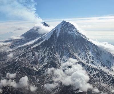 Великаны Пейзаж Камчатка Вулканы Ключевской Камень