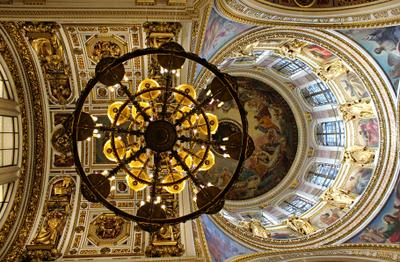 Лучистая красота Россия Санкт-Петербург архитектура Исаакиевский собор люстра купол лучистая красота