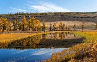 Зеркало. Осень Отражение Река Литвенницы