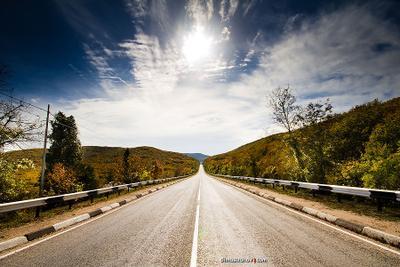Дорога вдаль Крым, ЮБК, дорога